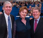 Rockefeller President Dr. Richard P. Lifton with 2016 Celebrating Science Honorees, Judy and Russ Carson. Photo by: Scott Rudd